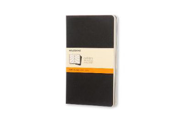 Picture of Moleskine Ruled Cahier L - Black Cover (3 Set)