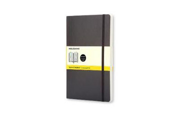 Picture of Moleskine Soft Large Squared Notebook Black