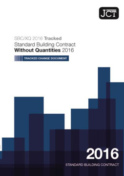 Picture of JCT:Standard Building Contract Without Quantities Tracked Change 2016
