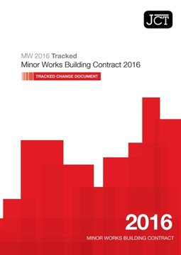 Picture of JCT:Minor Works Building Contract 2016 Tracked Change Document