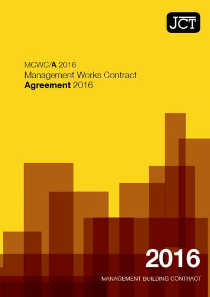 Picture of JCT: Management Works Contract Agreement 2016