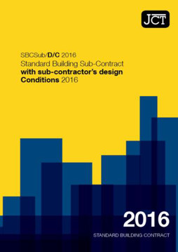 Picture of JCT: Standard Building Sub-Contract with sub contractor's design-Conditions 2016