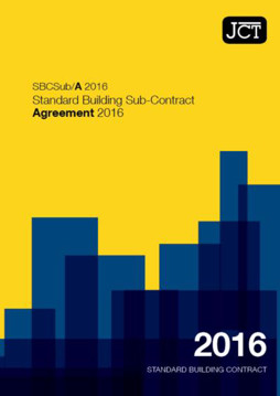 Picture of JCT:Standard Building Sub-Contract Agreement 2016