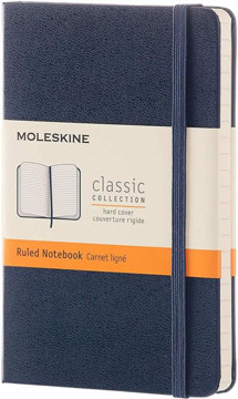Picture of Moleskine Blue Pocket Ruled Notebook Hard cover