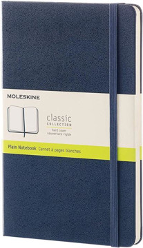 Picture of Moleskine Blue Large Plain Notebook Hard cover