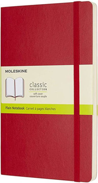 Picture of Large plain soft cover notebook scarlet