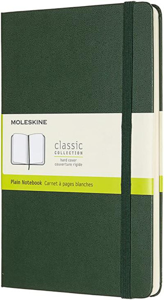 Picture of Large plain hard cover notebook myrtle green