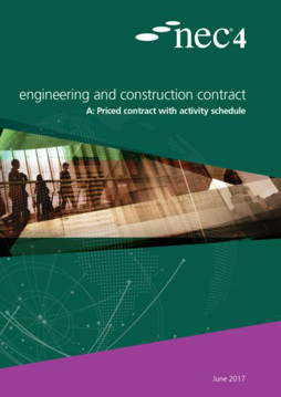 Picture of NEC4: Engineering and Construction Contract Option A priced contract with activity schedule