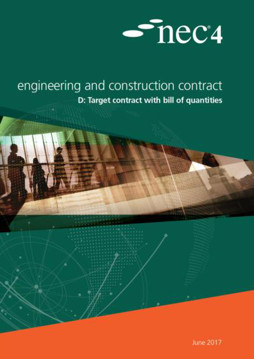 Picture of NEC4: Engineering and Construction Contract Option D: target contract with bill of quantities