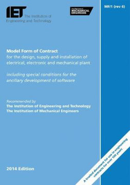 Picture of Model Form Contract for the Design, Supply and Installation of Electrical, Electronic and Mechanical Plant: MF1