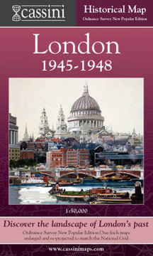 Picture of Cassini Historical Map, London 1946-1948 (LON-NPO): Discover the Landscape of London's Past