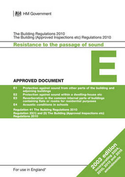 Picture of Approved Document E: Resistance to the passage of sound (2003 edition incorporating 2004, 2010, 2013 and 2015 amendments)