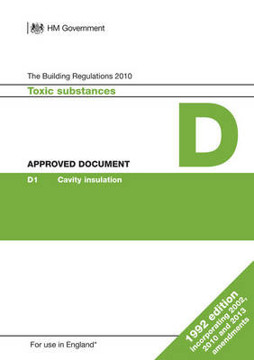 Picture of Approved Document D: Toxic substances (1992 edition incorporating 2002, 2010 and 2013 amendments)