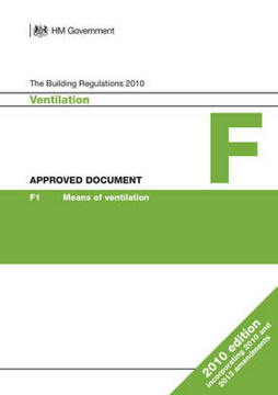 Picture of Approved Document F: Ventilation (2010 edition incorporating 2010 and 2013 amendments)