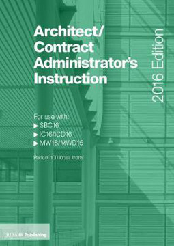 Picture of Architect/Contract Administrator's Instruction for use with SBC16/IC16/MW16