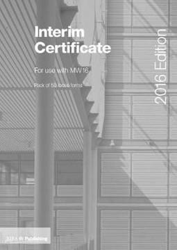 Picture of Interim Certificate for MW16