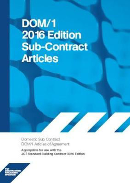 Picture of DOM1A 2016 DOM1A Domestic Subcontract - Articles of Agreement