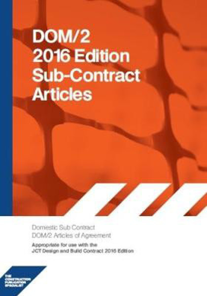 Picture of DOM2A 2016 DOM2A Domestic Subcontract - Articles of Agreement