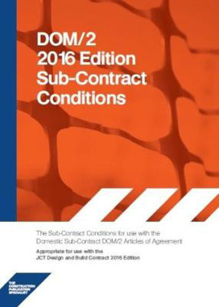 Picture of DOM2C 2016 DOM2C Domestic Subcontract - Conditions