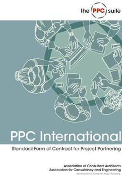 Picture of PPC International: ACA Standard Form of Contract for Project Partnering