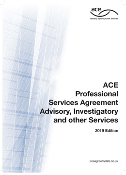 Picture of ACE 2019 Professional Services Agreement Advisory, Investigatory and other Services 2019 Edition