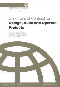 Picture of FIDIC (FC-DB-A-AA-09) 2008 Conditions of Contract DBO, D&B & Operate Projects Design & Build