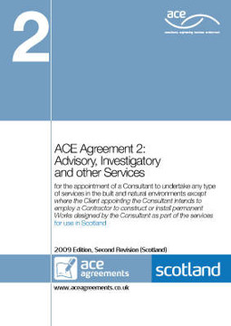 Picture of ACE Agreement: No. 2: Advisory, Investigatory and Other Services (for Use in Scotland)