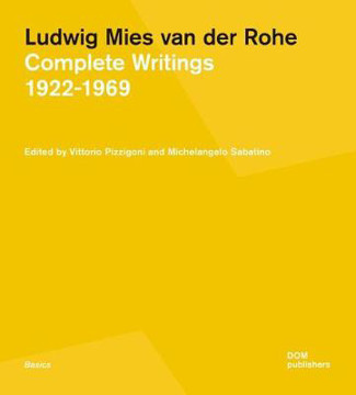 Picture of Ludwig Mies van der Rohe: Complete Writings 1922-1969