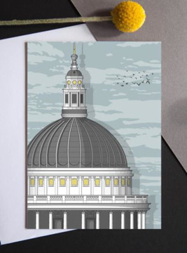 Picture of St Paul's Cathedral sunrise card