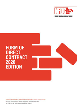 Picture of NFDC Form of Direct Contract: 2020 Edition